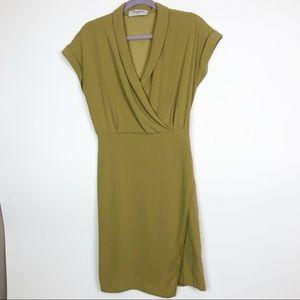 M.M. Lafleur Faux Wrap Cuff Sleeve Dress